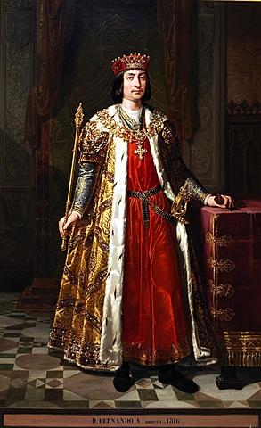 Fernando rey de la Corona de Aragón.