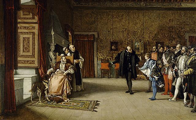 Abdicación de Carlos I.