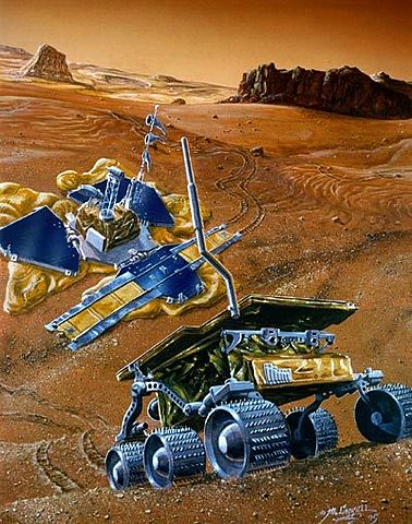 Mars Pathfinder landed on Mars and deployed the Sojourner rover