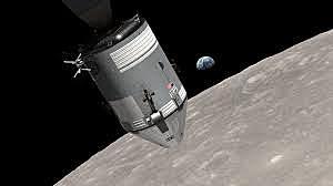 First manned spacecraft to orbit moon