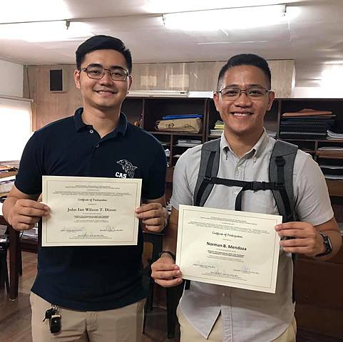 LR Adviser and LR VP attend training on Psychological First Aid
