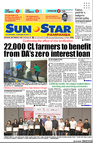 LR SMAC gets published in Sunstar Pampanga