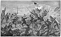 Battle at vicksburg