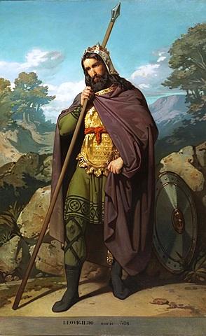 El rei visigot, es converteix al cristianisme