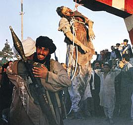 The Taliban publicly executes Najibullah.