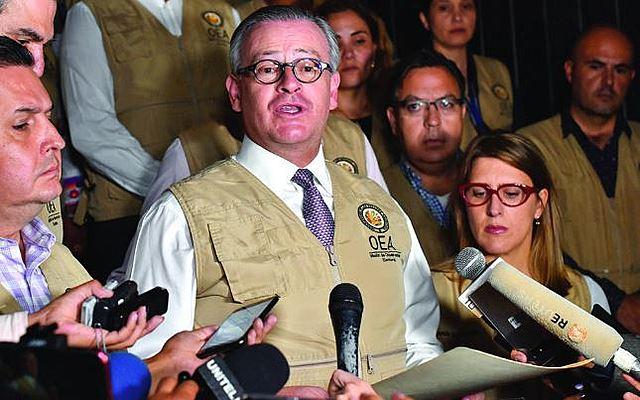 """OEA cuestiona al TSE: Cambio de ganador es """"inexplicable"""""""