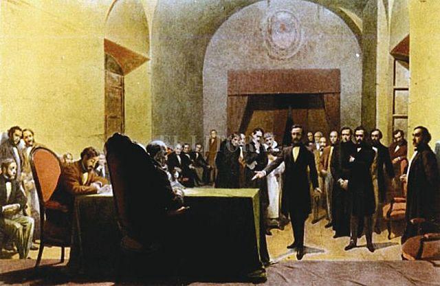 Inauguración del Congreso General Constituyente