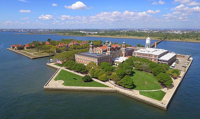 Ellis island is built