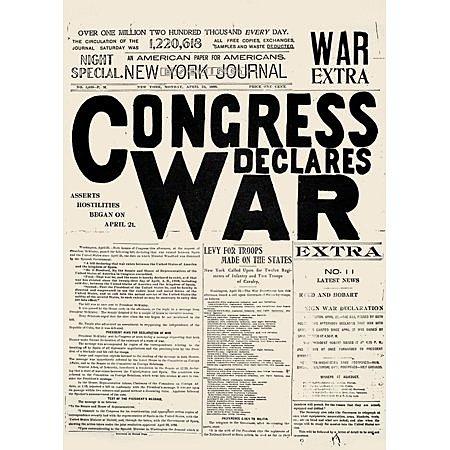 Congress declares war on Spain