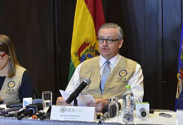 OEA recomienda segunda vuelta aunque Evo supere a Mesa con el 10%