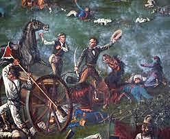 Texas declara su Independencia, Santa Anna marcha hacia allá con el objetivo de pacificar la región