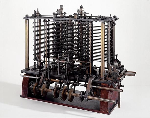 "máquina analítica"" de Charles Babbage."