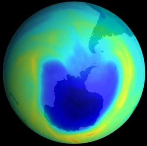 (600 million years ago) Protective Ozone Layer in Space