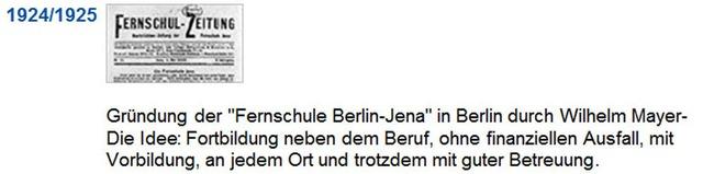 Alemania - Fernschule Jena