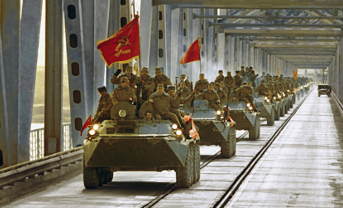 Soviet Union leaves Afghanistan