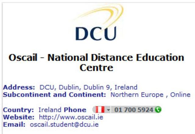 Irlanda - National Distance Education Centre