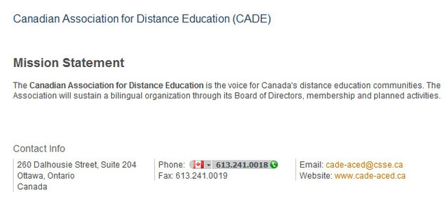 Canada - Canadian Association for Distance Educati