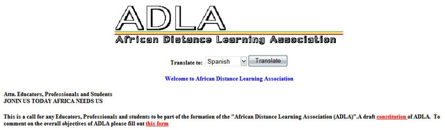 Africa -African Association for Distance Education