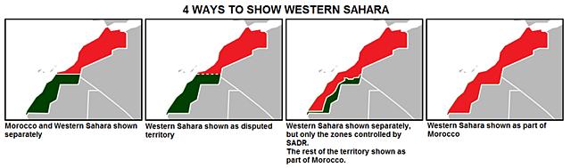 In 1976 werd de Westelijke Sahara door Marokko geannexeerd (verantwoording)