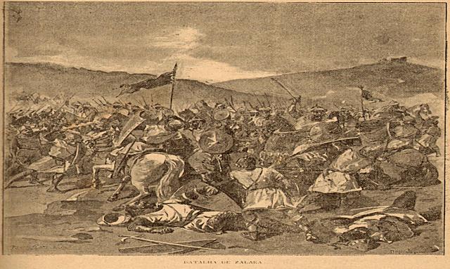 Batalla de Sagrajas. Derrota de los almorávides por el rey castellano.