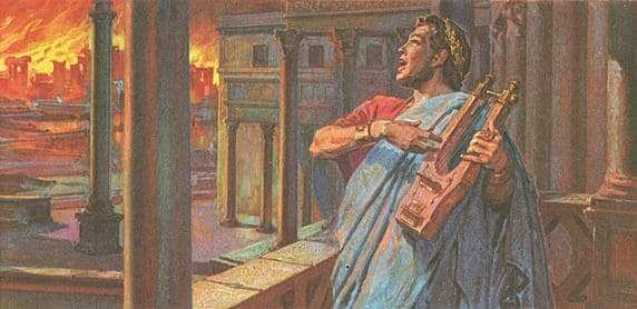 Nero (probably) burns the streets of Rome