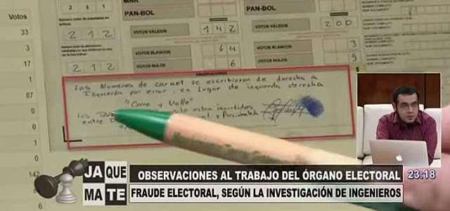 12 pruebas del supuesto fraude electoral presentadas por ingenieros de la UMSA