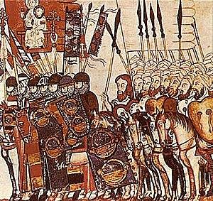 Batalla de Alarcos. Alfonso VIII de Castilla es derrotado por los almohades.