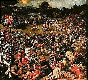 Batalla del Salado. Castilla y Portugal derrotan  a los benimerines, último reino magrebí que intentaría  invadir la Península.