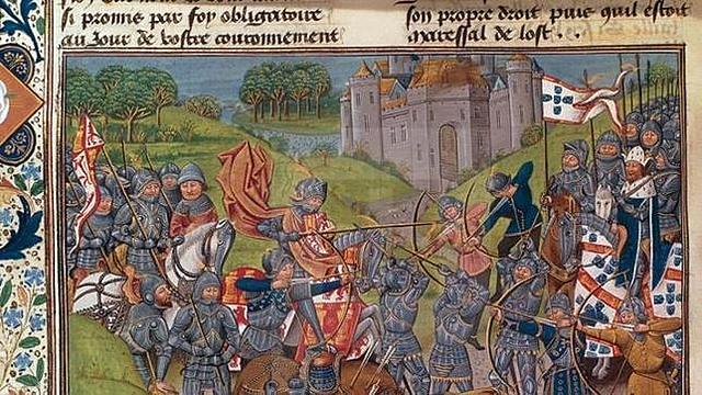 Batalla de Aljubarrota, derrota castellana, fin a la crisis portuguesa, consolidación de Juan I  (dinastía Avis) como rey de Portugal.