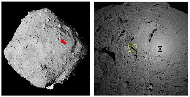 aterrizaje sobre el asteroide Ryugu