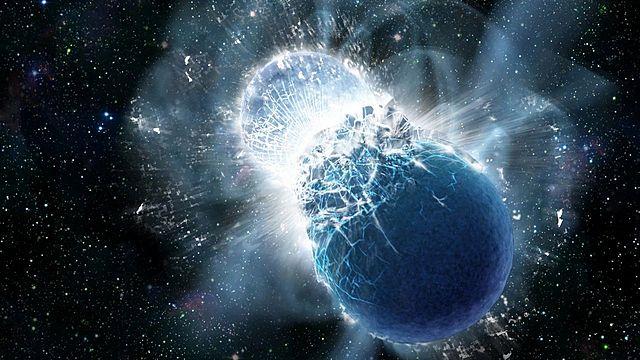 La colisión de estrellas de neutrones