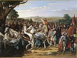 Tariq llega a la Península. Derrota de Don Rodrigo. Batalla de Guadelete. Comienza el Emirato dependiente de Damasco
