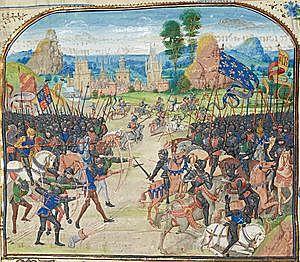 Derrota musulmana en Poitiers por Carlos Martel