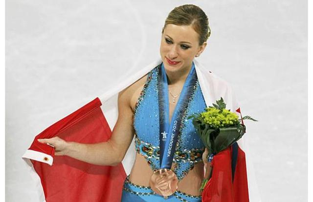 Rochette wins bronze with pain in heart (Figure skating)