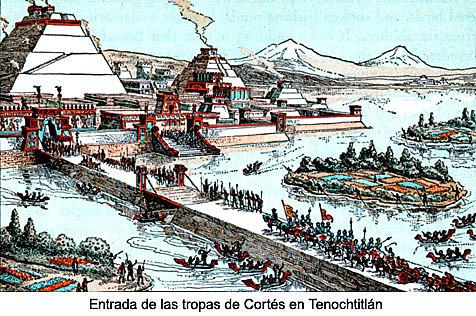 Llegada al gran lago de Texcoco