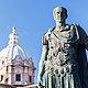 Julius caesar statue rome italy