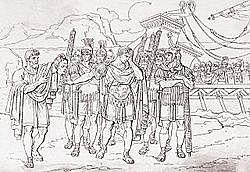 Pursued Pompey to Egypt