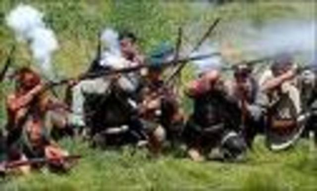 Daniel Boone in the French and Indian war.