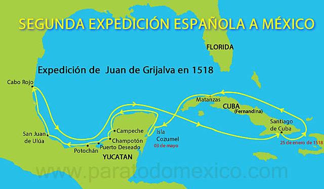 Expedición de Juan de Grijalva al Golfo de México