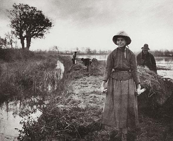 Poling the Marsh-Hay by Peter Henry Emerson