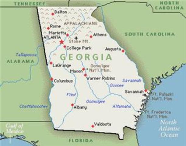 Georgia established as a colony.