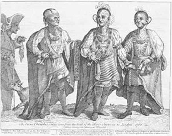 British & Cherokee end good relations