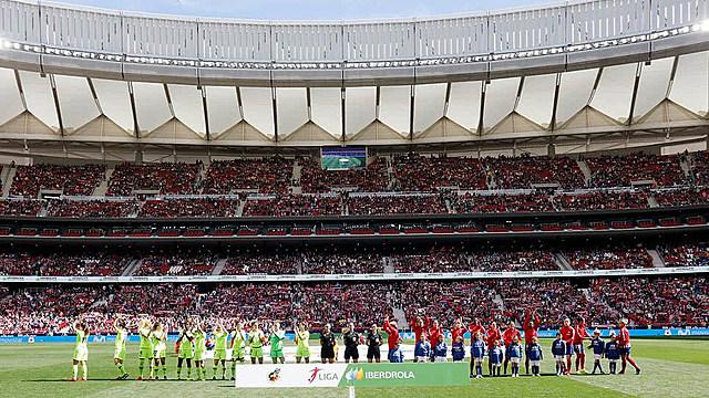 El Wanda Metropolitano batió un nuevo récord en el fútbol femenino