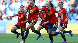 Evolución del fútbol femenino timeline