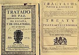 Tracta d'Utrech. fi de la guerra de successió.