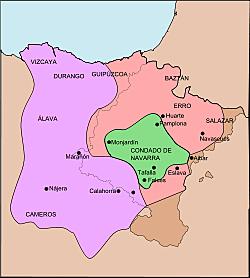 Navarra se anexiona el condado de Castilla a sus reinos Sancho III.