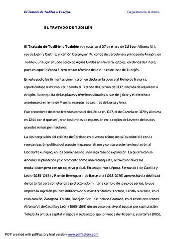 Tratado de Tudillén entre Castilla y Aragón. Establecen los límites de las zonas de expansión.