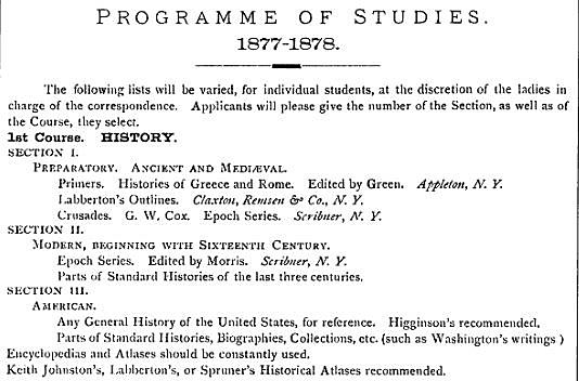 Ticknor & the Society to Encourage Studies at Home