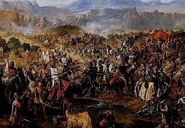 Derrota de los almohades en las Navas de Tolosa ante la coalición cristiana.