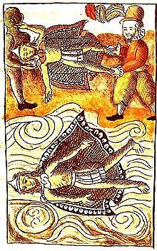 Muerte de Moctezuma.